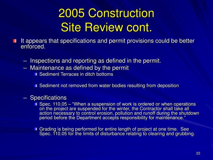 2005 Construction