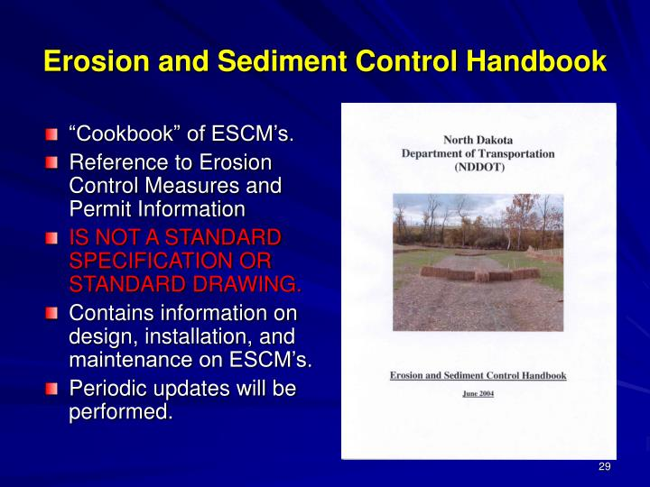 Erosion and Sediment Control Handbook