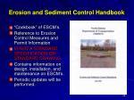 erosion and sediment control handbook