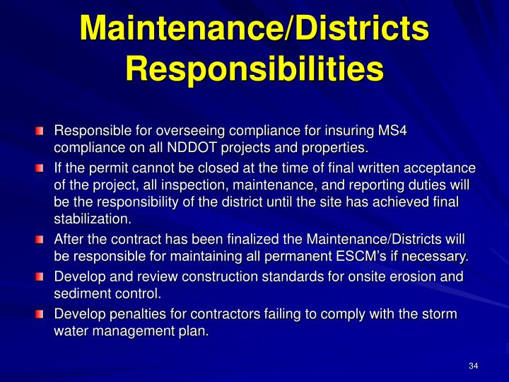 Maintenance/Districts