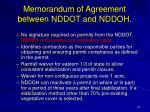 memorandum of agreement between nddot and nddoh