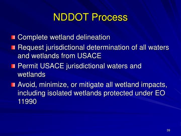 NDDOT Process