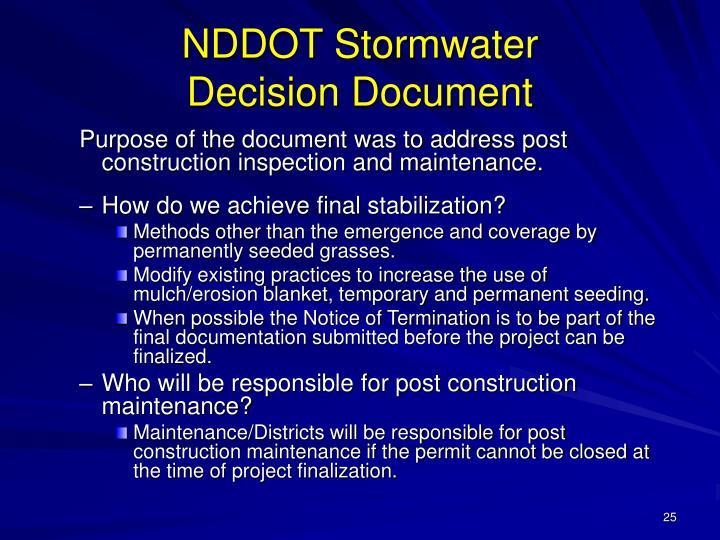 NDDOT Stormwater