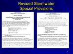 revised stormwater special provisions