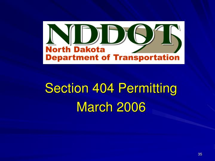 Section 404 Permitting