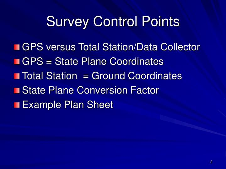Survey control points