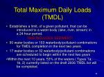 total maximum daily loads tmdl