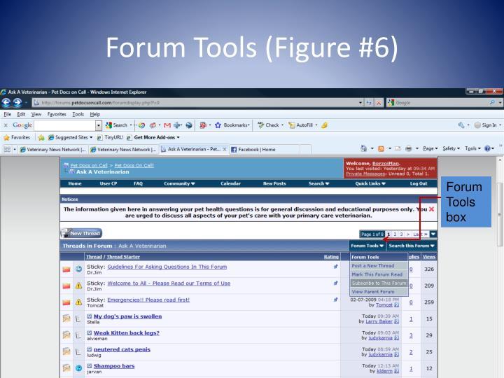 Forum Tools (Figure #6)