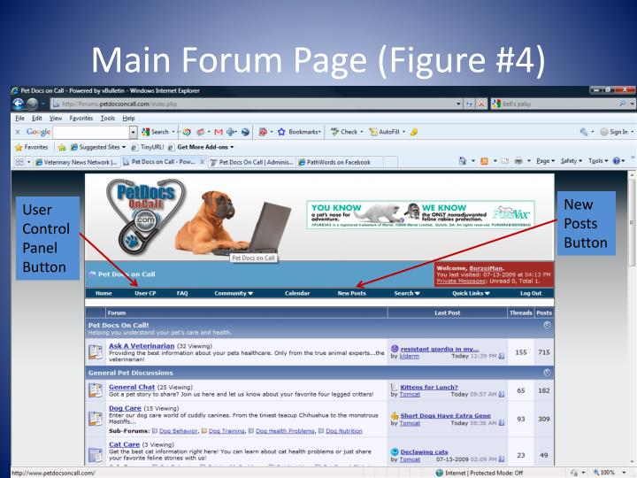 Main Forum Page (Figure #4)