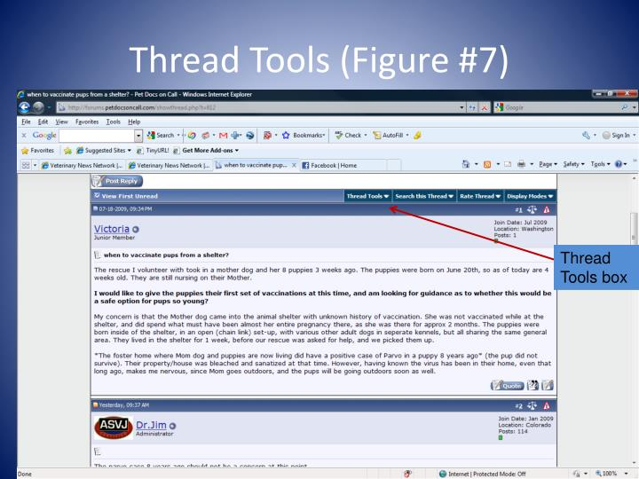 Thread Tools (Figure #7)
