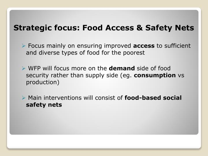 Strategic focus: Food Access & Safety Nets