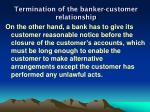 termination of the banker customer relationship2