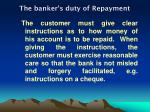 the banker s duty of repayment1