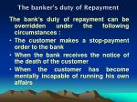 the banker s duty of repayment2