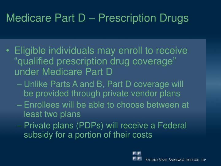 Medicare part d prescription drugs