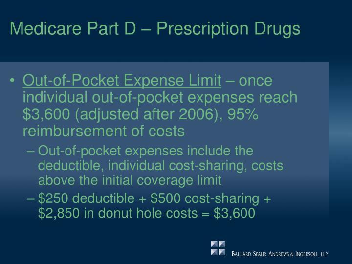 Medicare Part D – Prescription Drugs