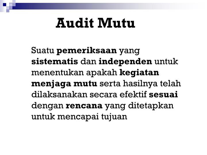 Audit Mutu