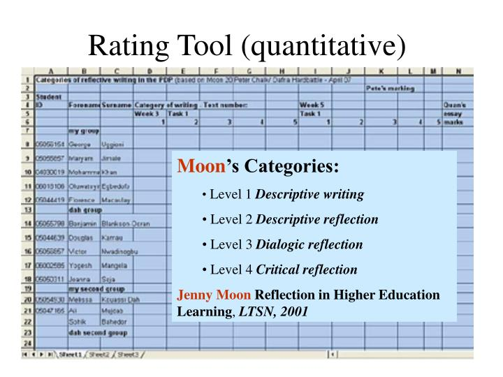 Rating Tool (quantitative)