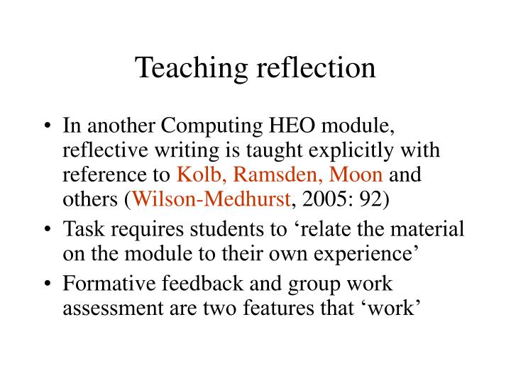 Teaching reflection