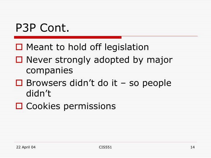 P3P Cont.