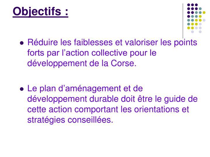 Objectifs: