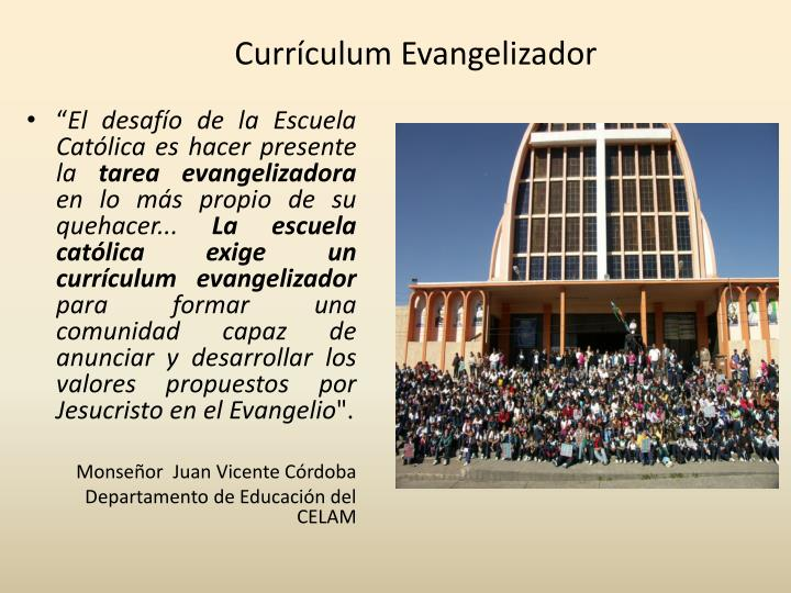Currículum Evangelizador