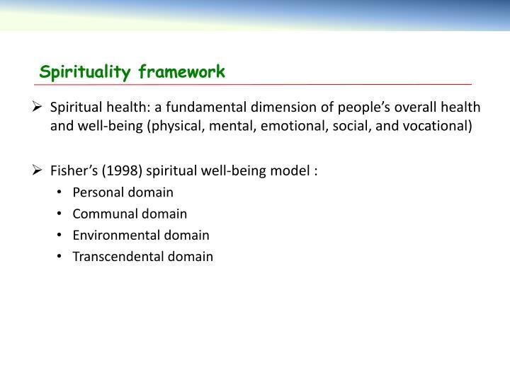 Spirituality framework
