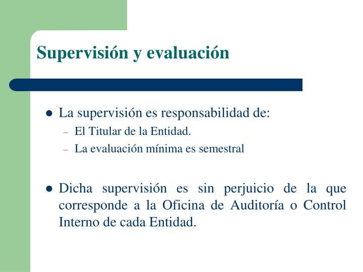 Supervisión y evaluación