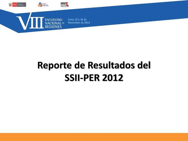 Reporte de Resultados del