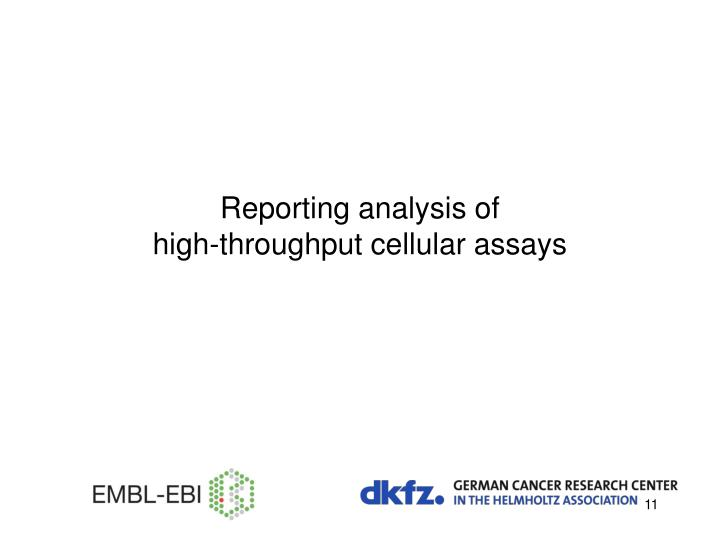 Reporting analysis of