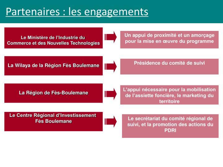 Partenaires : les engagements