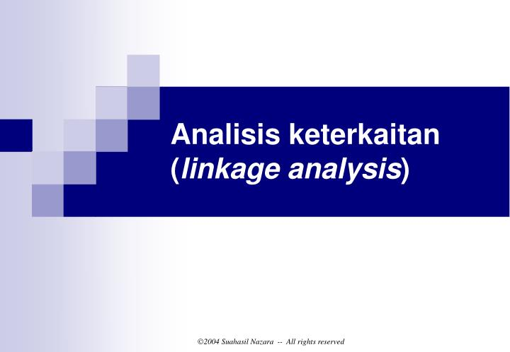 Analisis keterkaitan (