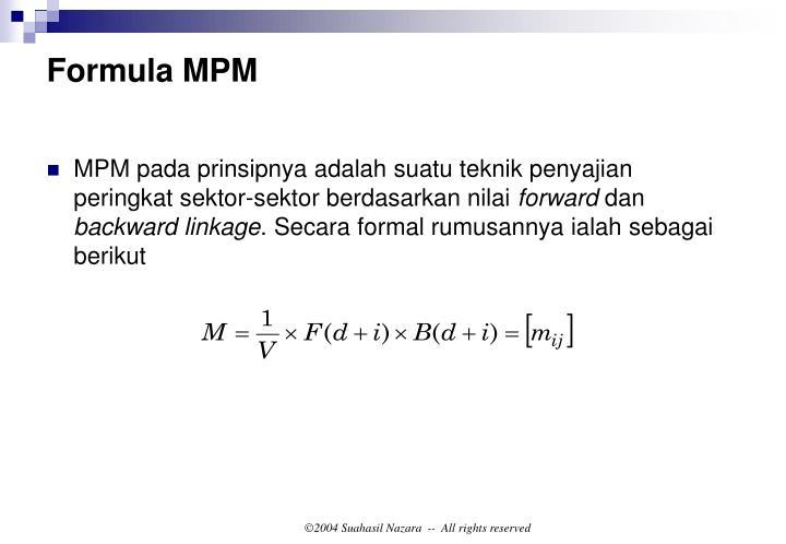 Formula MPM