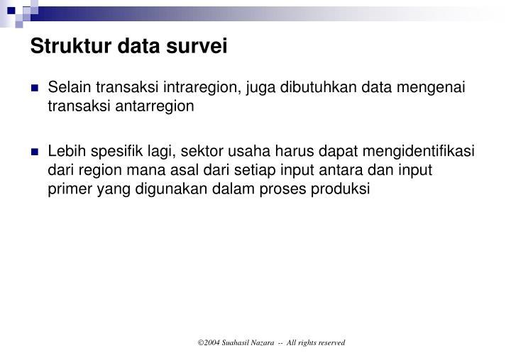 Struktur data survei