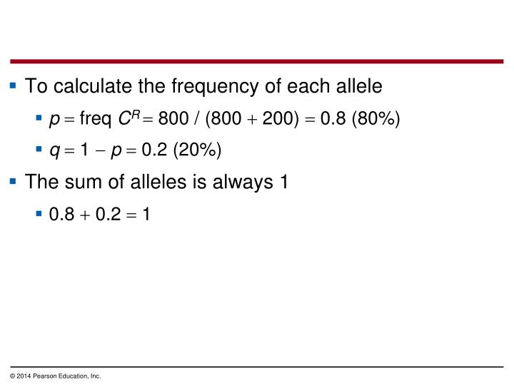 To calculate the frequency of each allele