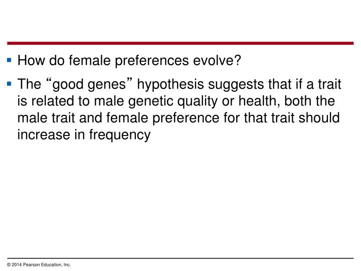 How do female preferences evolve?