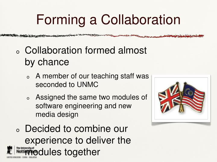 Forming a Collaboration