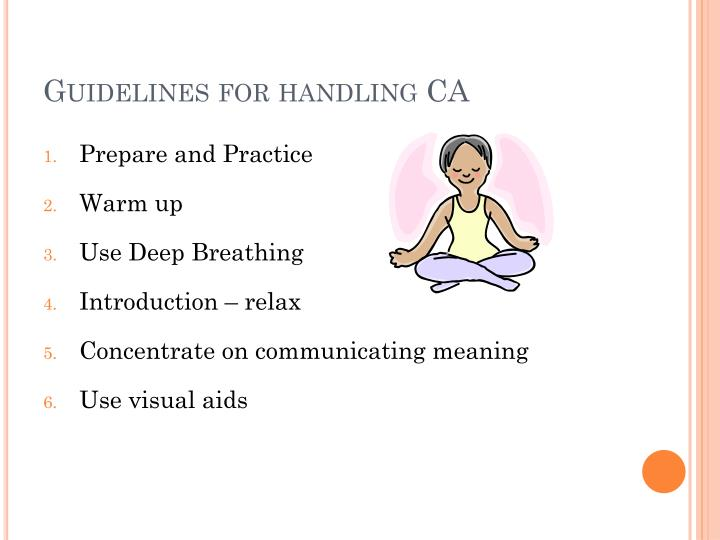 Guidelines for handling CA
