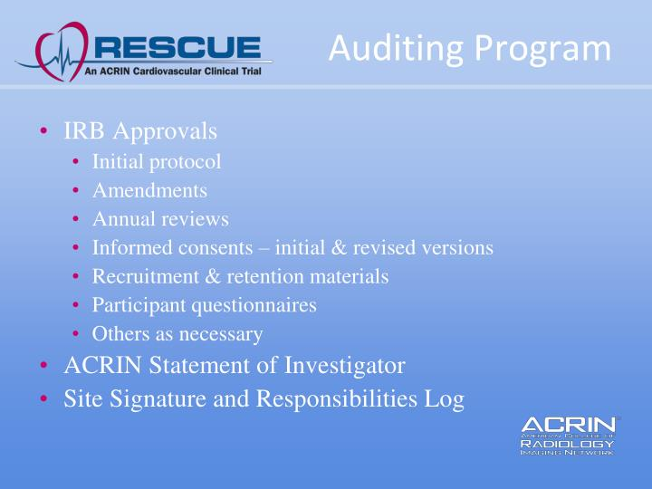 Auditing Program