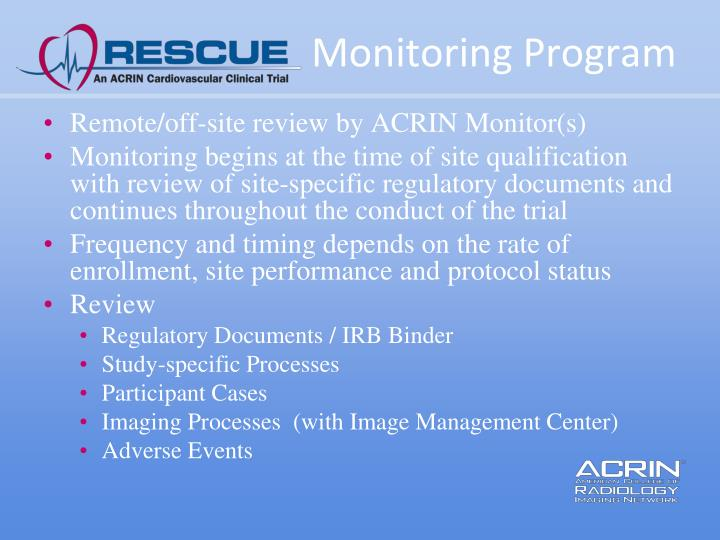 Monitoring Program