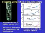 changing composition of the atmosphere