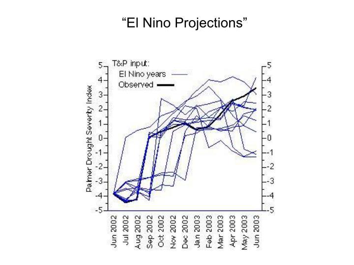 """""""El Nino Projections"""""""
