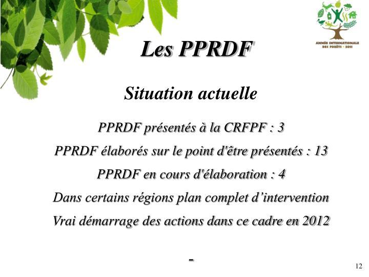 Les PPRDF