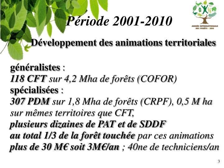 Période 2001-2010