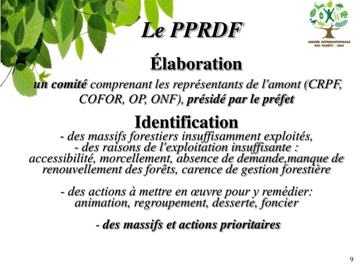 Le PPRDF