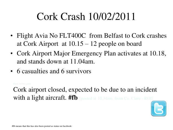 Cork Crash 10/02/2011