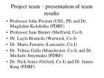 project team presentation of team results