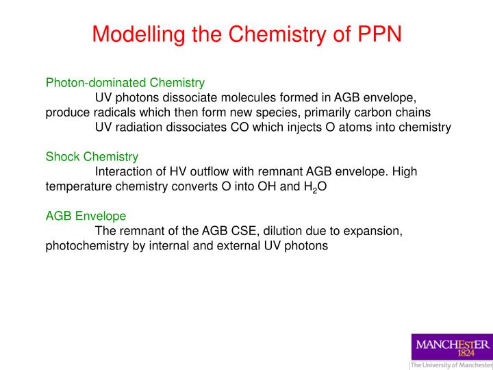 Modelling the Chemistry of PPN