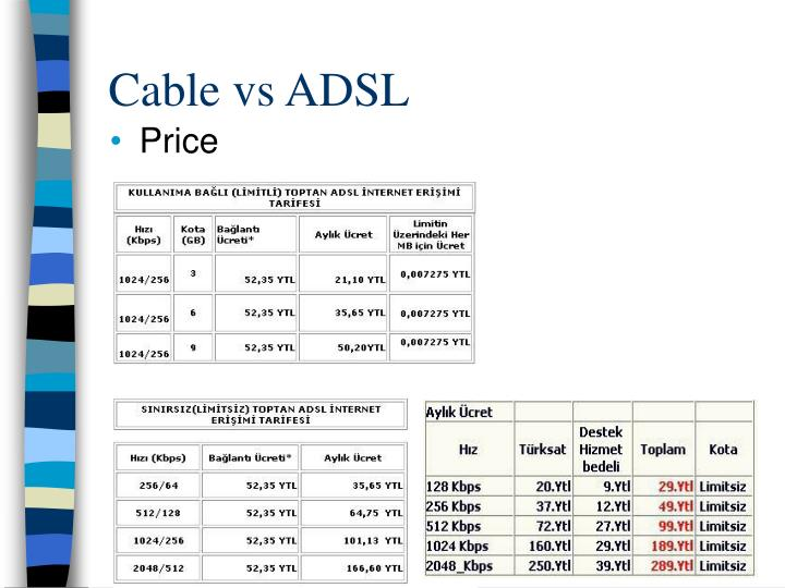 Cable vs ADSL