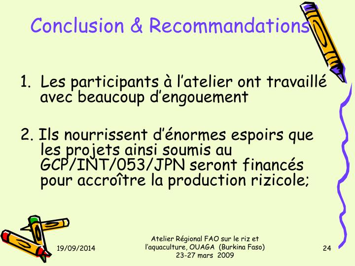 Conclusion & Recommandations